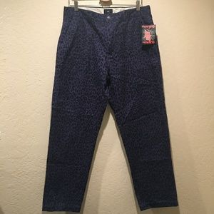 Obey Navy Leopard Carpenter Pants NWT